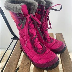 Columbia Youth Winter Boot Blush/Tropic Pink, Sz 1